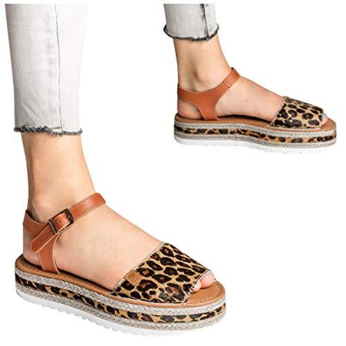 Best Buy! QBQCBB Women Fashion Casual Big Size Buckle Platform Wedges Sandals Casual Flat Roman Shoe...