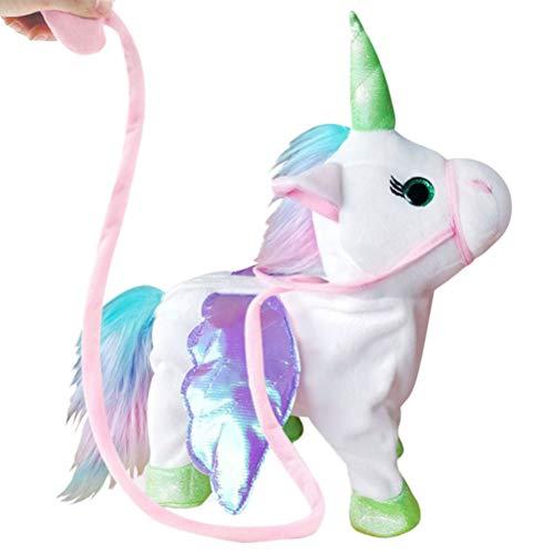 Toyvian Unicornio eléctrico de Peluche de Juguete Caminando Cantando Unicornio Juguete de...