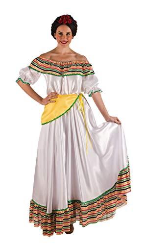 Disfraz mejicana color blanco. Talla 42/44.