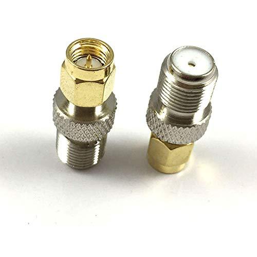 Sma RF Adapter Sma Mannelijke naar F Vrouwelijke Coaxiale Coax Connector Dab Antenne Converter voor FM/AM/DAB+ Radio Video (Pack van 2)