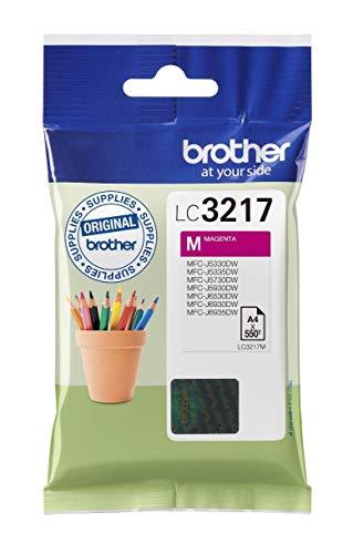 Brother LC3217M Cartucho de tinta magenta original para las impresoras MFCJ5330DW, MFCJ5730DW, MFCJ5930DW, MFCJ6530DW, MFCJ6930DW y MFCJ6935DW duración estimada hasta 550 páginas (ISO/IE 24711)