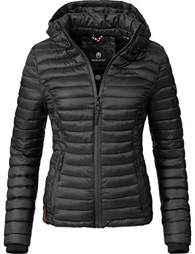 Marikoo Damen Übergangs-Jacke Steppjacke Samtpfote Schwarz Gr. XL