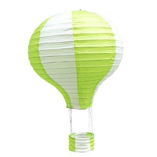1ps Heißluftballon 30cm Papier Laternen für Hochzeit Festival Party grün
