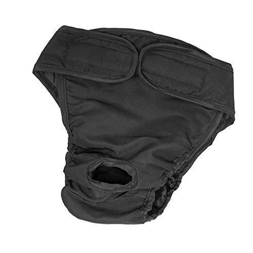 Gazechimp Ropa Interior anitaria de Animal Doméstico Perro Animal Doméstico Vestido Complimetos Suave - Negro, S