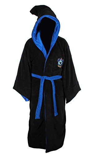 HARRY POTTER Ravenclaw Adult Fleece Hooded Bathrobe (One Size)