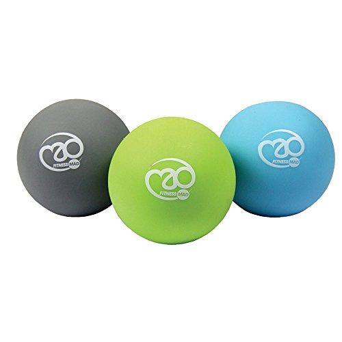 Fitness Mad Massage Ball Set, Rullo per Massaggio Unisex – Adulto, Multicoloured, Taglia Unica