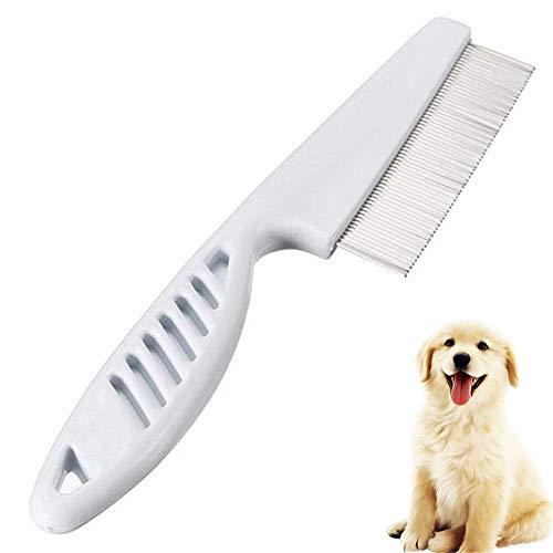 Gofeibao Hundekamm Katzenbürste Kurzhaar Flohbehandlung für Hunde Katzenflohkamm Hundesalon Kamm Hundeschuppen-Tools Deshedding Tool für Hunde