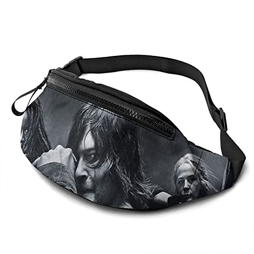 Walking Dead Décima temporadaModa Bum Bag Pack Cross Sling Bolsas ligeras de cintura al aire libre Entrenamiento Viajar Correr