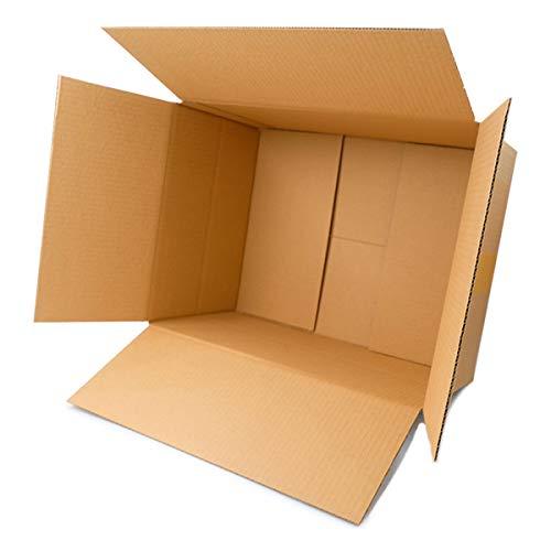 50 Faltkartons 400x300x200mm braun KK 90 1 wellig rechteckige Versandkartons | DHL Paket 5 Kg | DPD M | GLS M | H M Paket | Versandkartons für mittelgroße Waren