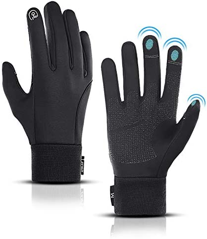 LERWAY Winter Warm Gloves Thermal Black Warm Gloves for Men Women Waterproof Touchscreen Non product image