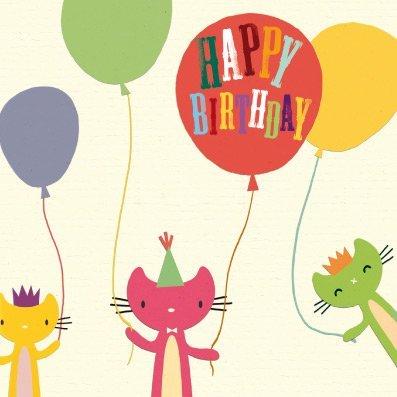 Chats et ballons Circus – carte de vœux