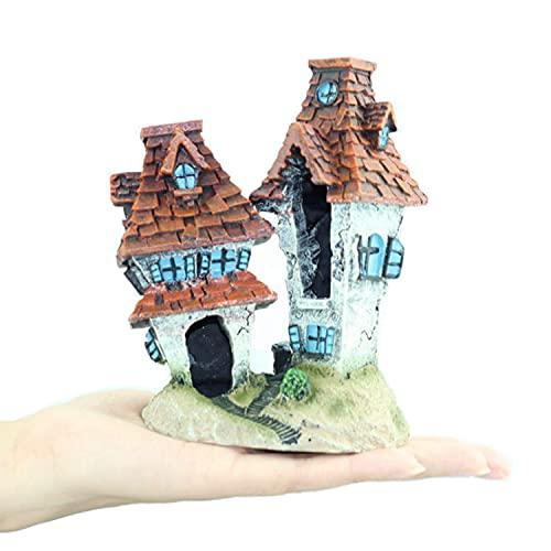 MJSHA Paisajismo Creativo del Acuario, casa de Dibujos Animados de Harry Potter, Peces y camarones Caminando por la pecera, Manualidades Decorativas y Adornos