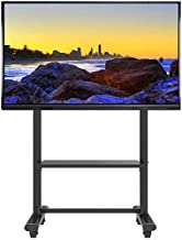 TV Stand Pedestal Bracket Heavy Duty TV Stand On Wheels,55/65/70/75/80/85 Inch Flat Screen TV, Floor Stand for Tradeshows/...