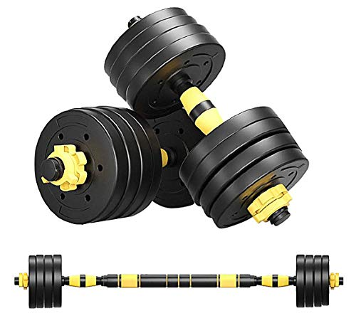 PrettyDresses Adjustable Weights Dumbbells Set,Free Weights Dumbbells Set for Men and Women with Connecting Rod Can Be Used As Barbell for Home Gym Work Out Training 2Pair