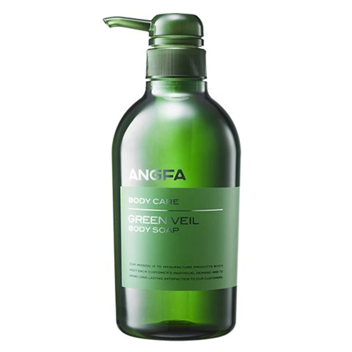 注入するマチュピチュ放棄アンファー (ANGFA) グリーンベール 薬用ボディソープ 500ml グリーンフローラル [乾燥?保湿] かゆみ肌