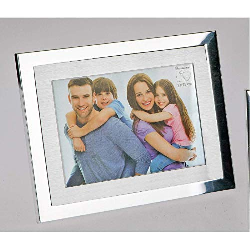 formano Bilderahmen, Fotorahmen ALU für 13x18cm Silber matt + glänzend Metall