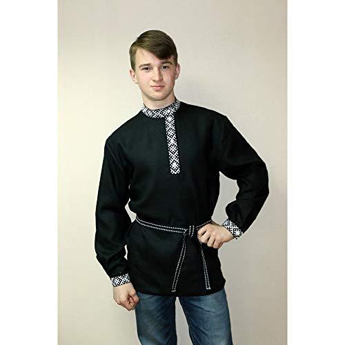 Kosovorotka Russian shirt Slavic embroidery men traditional wear boho peasant shirt hippie clothes