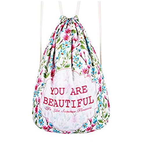Kleurrijke kleurrijke persoonlijkheid Pull Rope Backpack Polyester Verminder ademend Yoga Bag Geschikt for fitness Shopping / 44 x 36cm Veelzijdige Mooie en praktische sporttas.