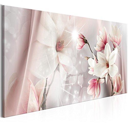 murando Quadro Fiori Magnolia 120x40 cm Stampa su tela in TNT XXL Immagini moderni Murale Fotografia Grafica Decorazione da parete 1 pezzo beige b-B-0270-b-a