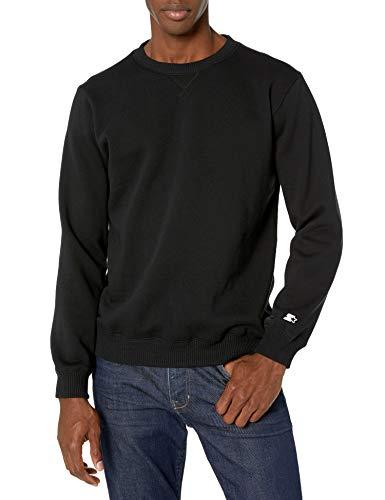Starter Men's Standard Solid Crewneck Sweatshirt, black, M