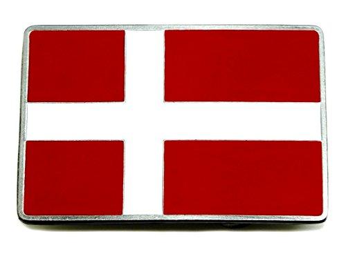 Deense vlag riem gesp Denemarken Scandinavische kruis Authentieke draak ontwerpen merkproduct