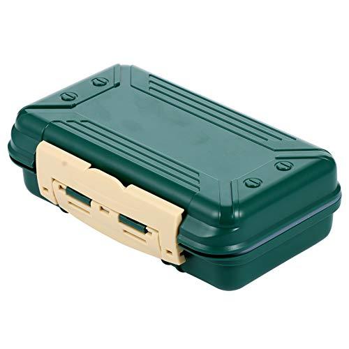 BESPORTBLE Caja de Aparejos de Pesca Caja de Herramientas de Pesca de 16 Compartimentos Portátil Impermeable Anzuelo de Pesca Señuelos Organizador de Transporte 15. 5X9. 8X4. Los 8Cm