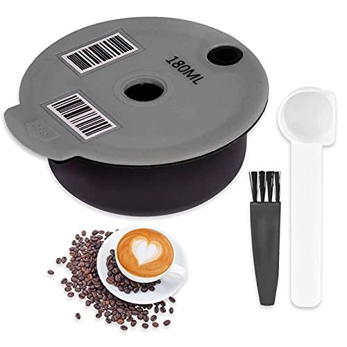 Nachfüllbare Kaffee Kapsel, Wiederverwendbarer Kaffeefilter für Bosch Tassimo Edelstahl Mesh, für das Home Office(180ML)