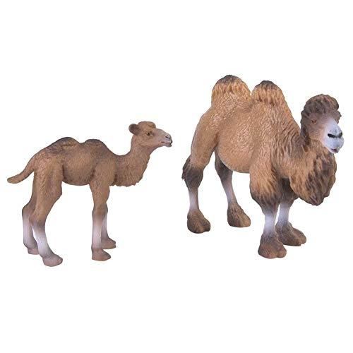 Liukouu 2pcs Miniature Cammello Figurine Modello Animale Home Decor Bambini Giocattoli Educativi per Bambini