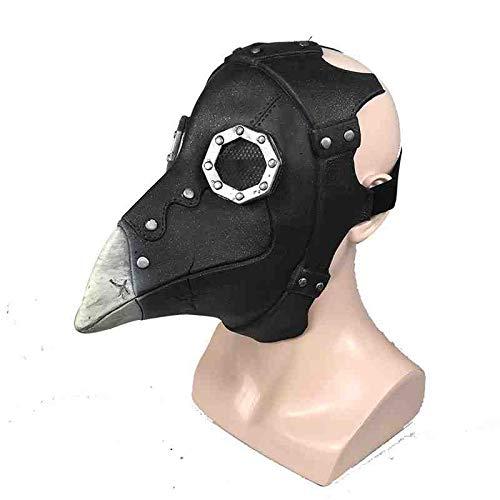 KLJAI Halloween Plague Doctor Plague Crow Bird Beak Mask Halloween Mask Black Medical Bird,Black Medical Bird