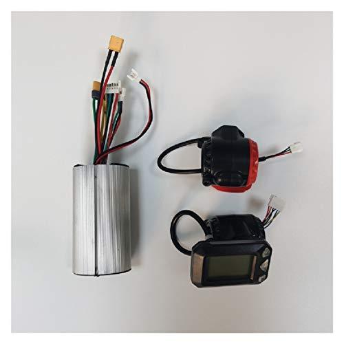 SHIZHI Controlador de Scooter de 24V / 36V Aluminio Controlador de Motor sin escobillas Ecooter de Fibra de Carbono LCD Pantalla de Freno Acelerador Acelerador (Color : 24V)