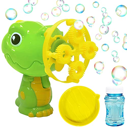 Máquina de burbujas para niños, máquina de burbujas de dinosaurio, máquina de burbujas de dinosaurio, máquina de pompas de jabón, dinosaurio automático, máquina de burbujas para niños, color azul