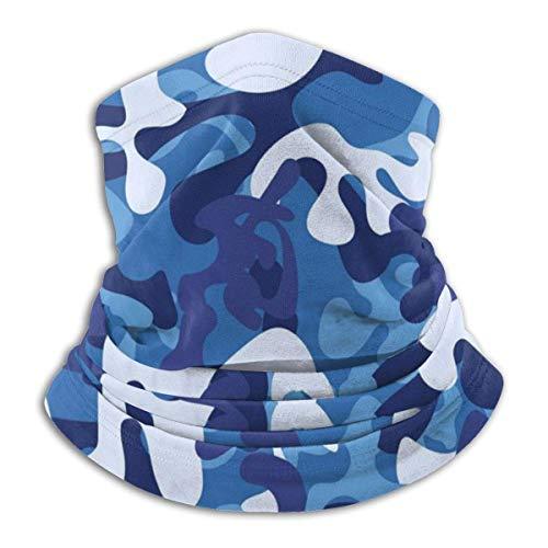 senob sans Couture Bleu Camouflage Chapeaux Cou Guêtre Plus Chaud Hiver Ski Tube Écharpe Masque Polaire Visage Couverture Coupe-Vent Personnalisé