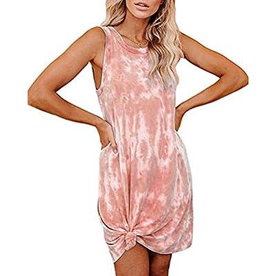 Amazon - Save 60%: Women's Tie Dye Tank Sleeveless Knee Length Pleated Sun Dresses Paja…