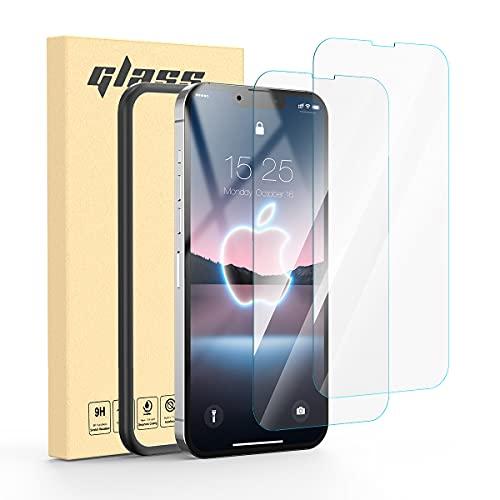 MATEPROX Protector de Pantalla para iPhone 13 Pro Max [2 Pack] HD Cristal Templado[9H] [Cobertura Toda Pantalla] Vidrio Templado Protector para iPhone 13 Pro Max 6,7'' 2021