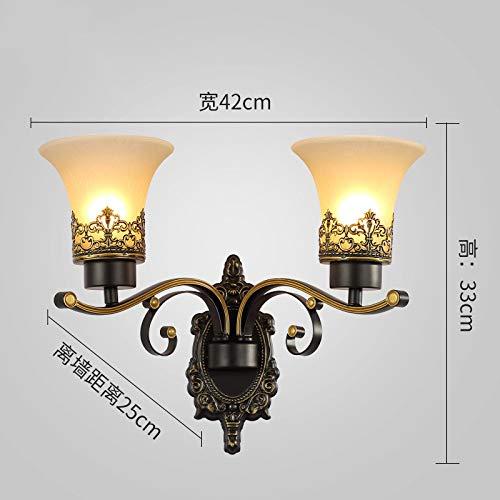 Vintage wandlamp, wandlamp, dubbele kop, creatief, strijkijzer, wand, industrieel design, metaal, retro, verlichting, voor bedlampje, slaapkamer, veranda, hal