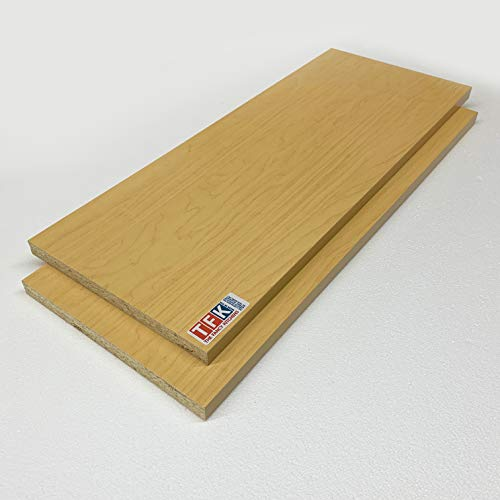 White 1//8, 1//4, 3//8, 1//2 Choose Your Accurate Size Red or Other Colors Laminate Shelf 2 Pack Black 18 x 33 Melamine