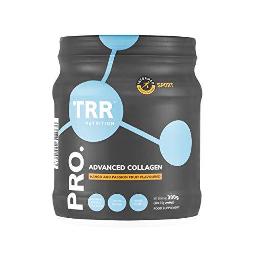 TRR PRO Advanced Collagen Powder - 10,000 mg Marine Collagen Peptides - Support Joints & Bones Health (300g, 20 Servings, Mango & Passion Fruit)