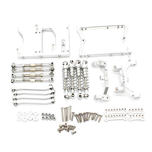 Ellenbogenorthese-LQ Barras de tracción del chasis de Metal RC Servo Soporte de Montaje Fijo Amortiguador para MN D90 D91 MN99S 1/12 RC Car Upgrade Parts, Silver