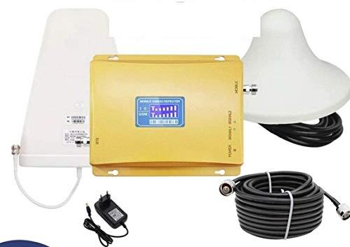 Kit Oro Gold RIPETITORE Amplificatore Doppia Banda 8 (900MHZ) - 3 (1800MHZ) Segnale gsm 3G 4G LTE Tim WINDTRE VODAFONE ECC - Antenna Interna OMNIDIREZIONALE - Antenna Esterna DIREZIONALE