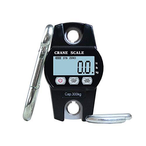 YING-pinghu Scale Multipurpose 300KG Mini Digital Crane Scale Luggage Fishing Balance Pocket Weight Scale Hook hanging Crane Electronic scales (Color : Black)