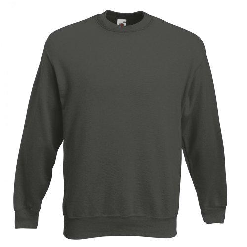 Fruit of the Loom Herren Sweatshirt Premium Set-In Sweat 62-154-0 Charcoal L