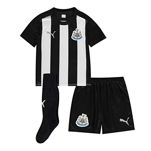 PUMA Kinder Newcastle United Heim Baby Kit 2020 2021 Mini Schwarz/Weiß 6-9 Monate