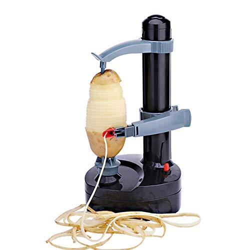 NEEZ Electric Apple Peeler Potato Vegetable Fruit Peeling Machine Kitchen Cutter Tool Automatic Peeler (Black)