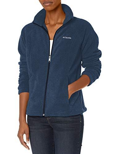 Columbia Women's Benton Springs Full Zip Sweaters, Columbia Navy, Large US