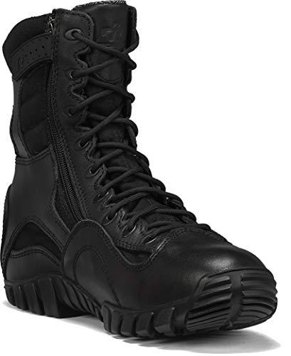 TACTICAL RESEARCH TR Men s Khyber TR960Z WP Lightweight Waterproof Side-Zip Tactical Boot, Black - 10 R