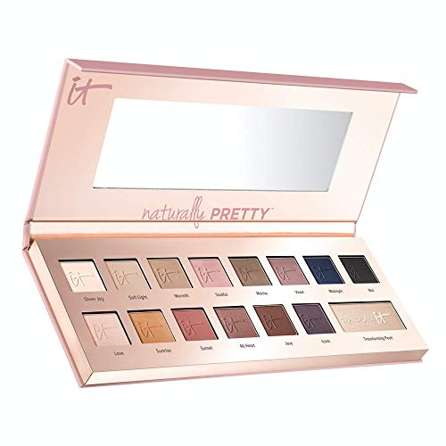 iT Cosmetics Naturally Pretty Matte Luxe Transforming Eyeshadow Palette 14 Shades Plus Transforming Pearl