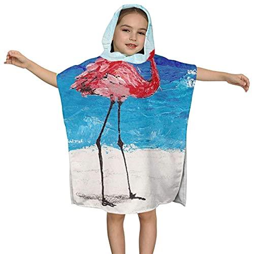XCNGG Toalla de baño con Capucha para niños, diseño de Capa Multifuncional Iceberg, Que se Puede Doblar como Toalla y Cubierta de natación