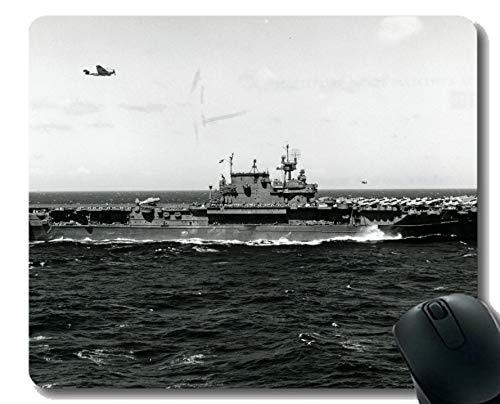 Mauspad mit genähter Kante, Militär USS Enterprise (CV 6) Kriegsschiff Rutschfeste Gummi-Mousepad