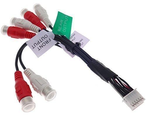 Pioneer Cable amplificador de 12 pines RCA RCA Line Out adaptador conector...