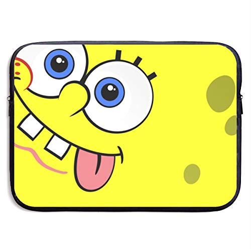 CHLING Funny Spongebob Squarepants Laptop Sleeve Bag Compatible 13-15 Inch MacBook Pro/MacBook Air/Notebook